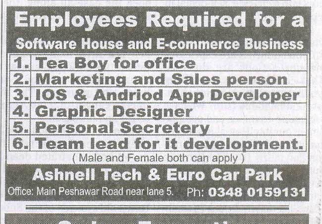 Staff Required At A Software House E Commerce Business